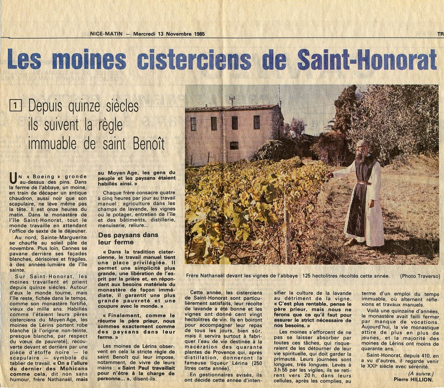 Article Nice-Matin, 1985 © NM