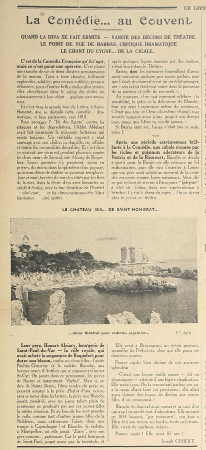 Article du Littoral sur l'occupation de la tour par l'actrice, 25 septembre 1941, AMC Jx5_1941_09_25_Page_02