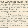 Article du journal le Littoral au sujet de la statue de Jeanne d'Arc, 7 mai 1942 (Jx45)