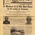 Article de presse du journal l'Ergot sur le massacre de la villa Mont-Fleury, 1944 (4H69)