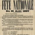 C�l�bration de l'alliance franco-russe � Cannes, 1897 (1J18)